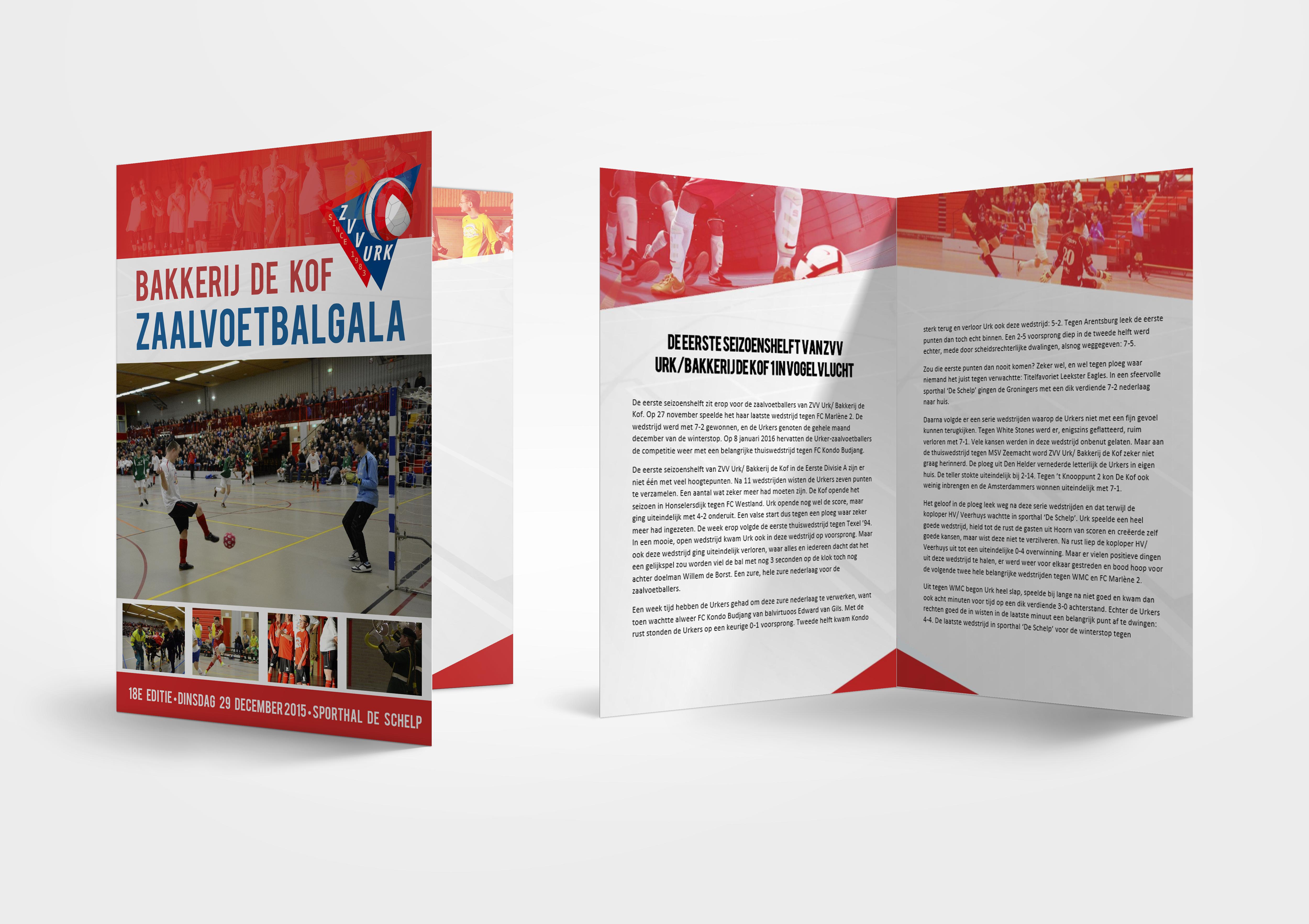 Wedstrijdboekje Zaalvoetbalgala ZVVU