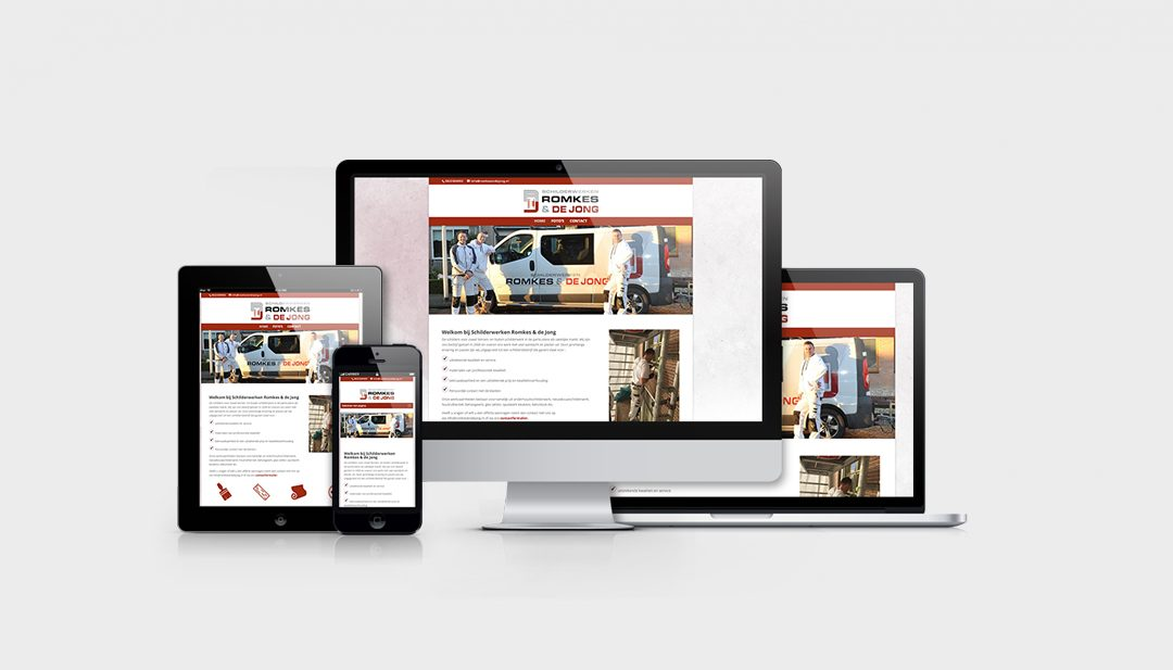 Website Romkes & de Jong Schilderwerken